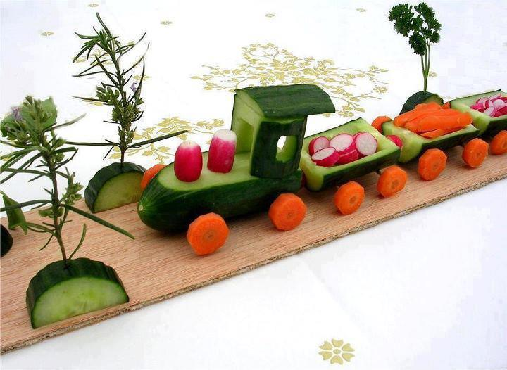 Veggie Train Food Art