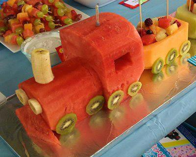 Fruity Train Food Art