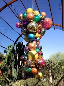 Glass Sculptures in the Garden
