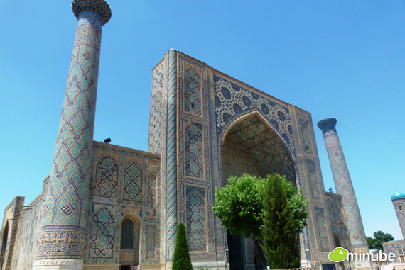 Samarkand is an ancient Silk Road city and the madrasas and mosaics of the monumental Registan square are among the world's most beautiful examples of Islamic architecture. (Photo by Sonia R. Salces)