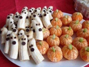 Easy-Eat Pumpkins and Ghosts